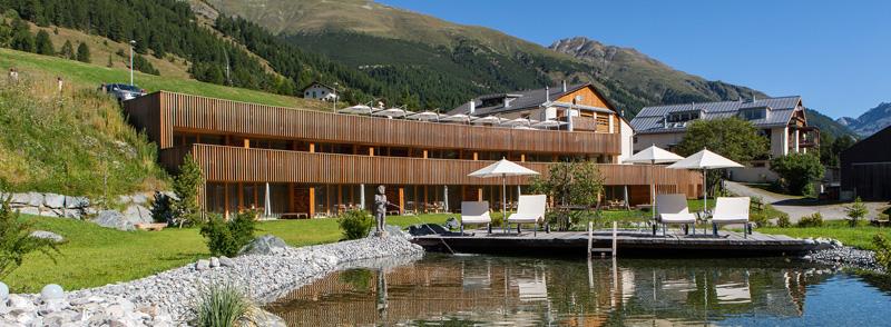 Genussmanufaktur IN LAIN Hotel Cadonau Innovationspreis Naturkalkfarben und -putze von HAGA Naturbaustoffe