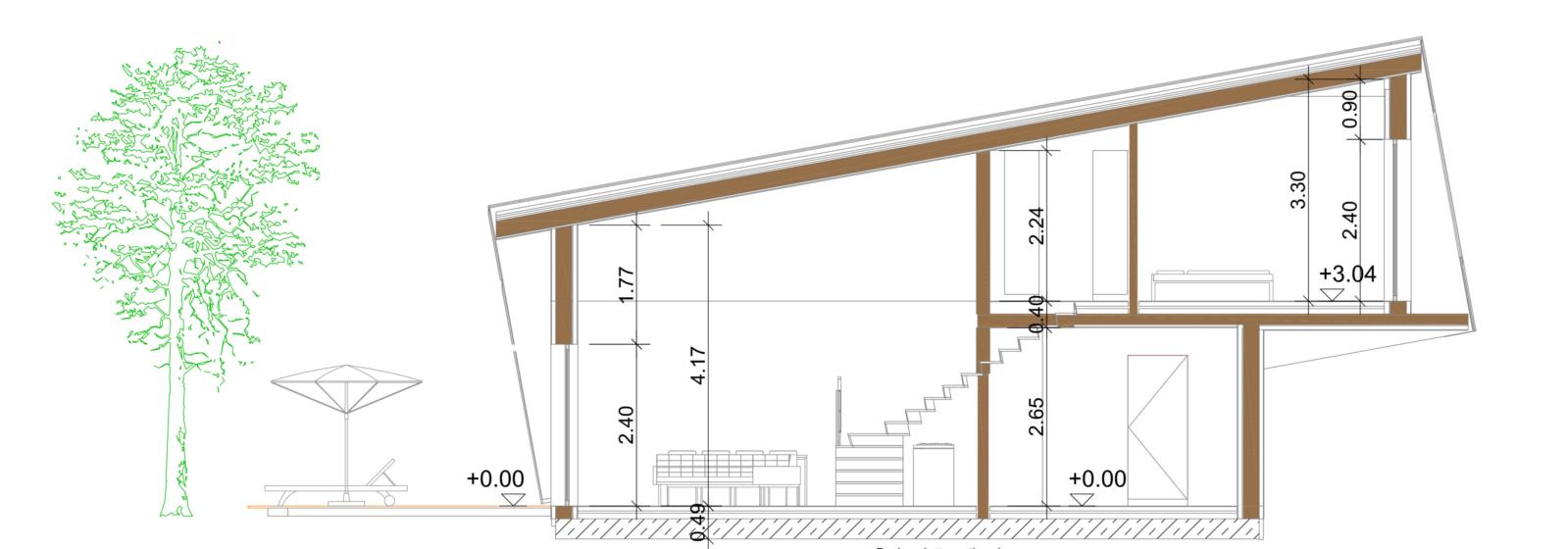 Smart-Loft für Individualisten Schnitt Grundriss energieeffizientes intelligentes Gebäudekonzept von Designer Gerold Peham