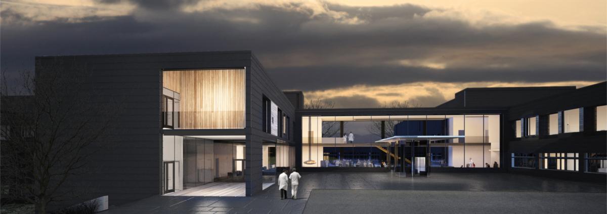 Polarkrankenhaus in Norwegen Modulbautechnologie von Cadolto. Bildquelle: Momentum Arkitekter