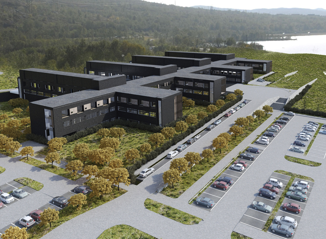 Polarkrankenhaus in Norwegen Modulbautechnologie von Cadolto