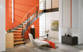 Treppe mit Loftcharakter Loftbauweise Massivholzstufen von Treppenmeister