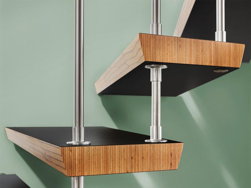 Die robuste Treppe für den großen Auftritt Diamont-Stufen kratzfest von Treppenmeister