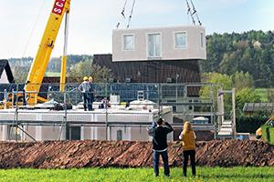Fertighäuser boomen: es geht auch massiv, Dennert Massivhaus